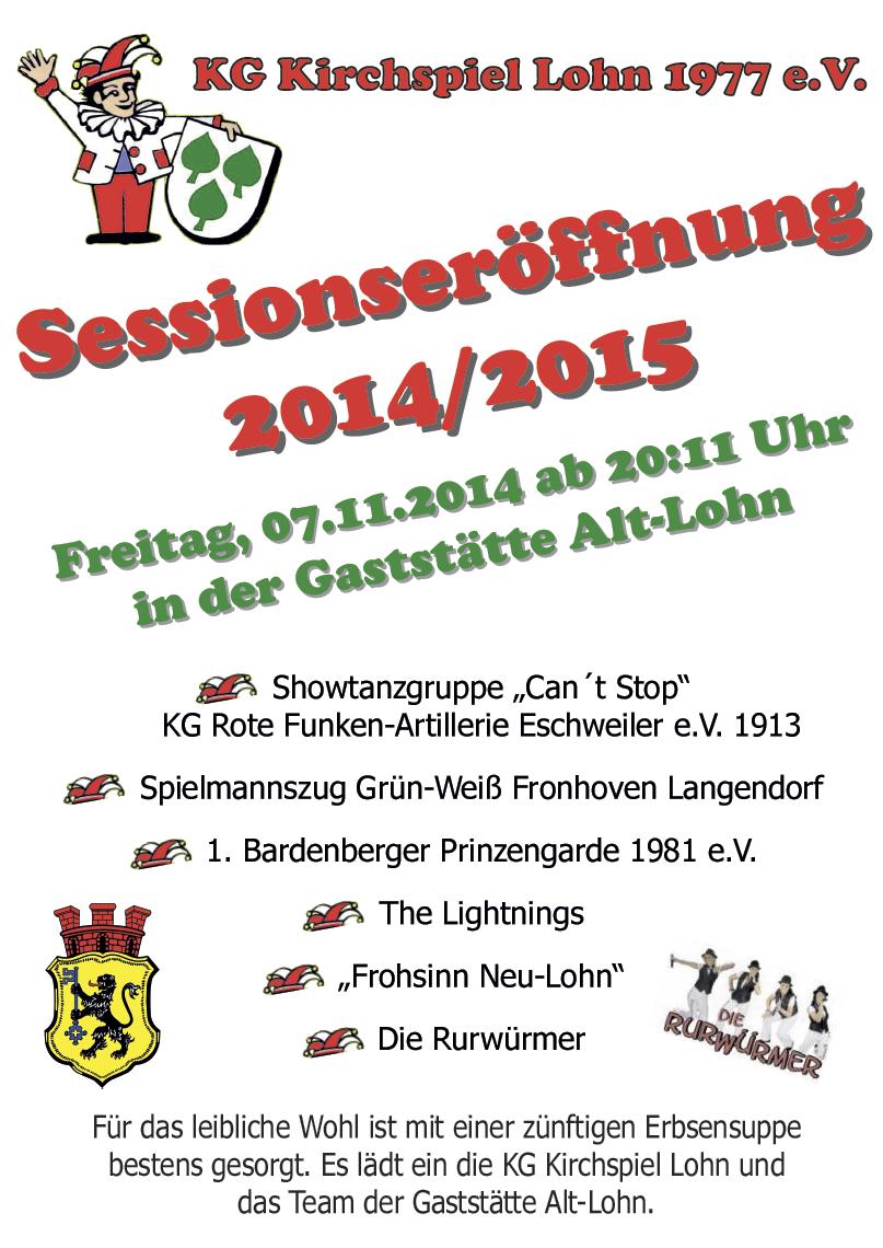Sessionseröffnung 2014 2015