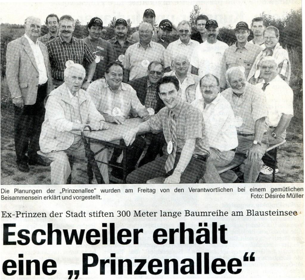 Chronik 2001 Prinzentreffen Allee