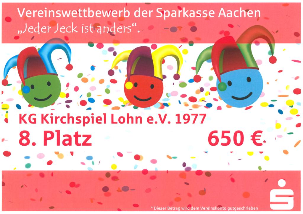 Sparkass Aachen - Jeder JEck ist anders - 8. Platz